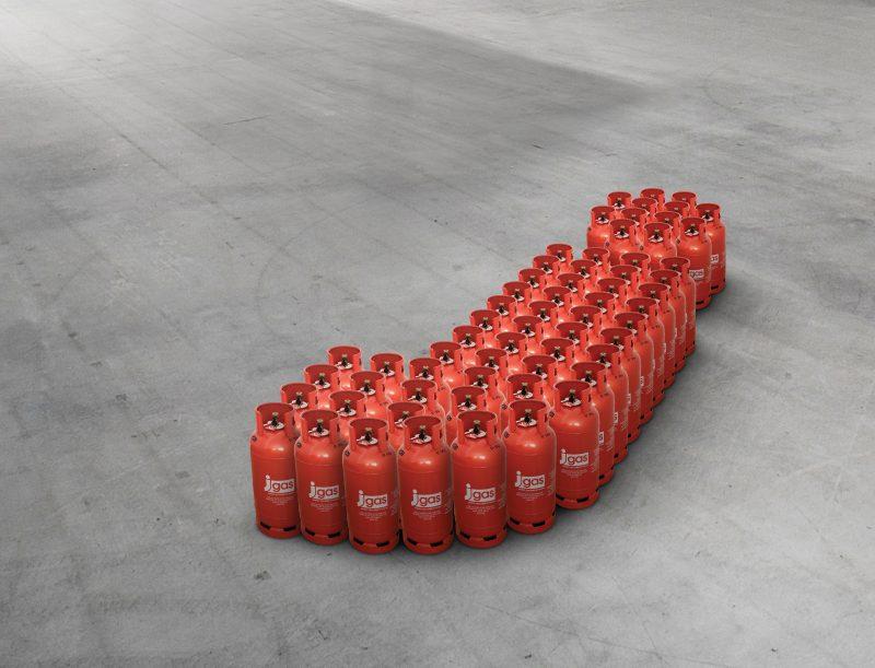 J Gas Bottles no pillars
